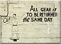 TM3185 : RAF Bungay (USAAF Station 125) - Mural by Evelyn Simak