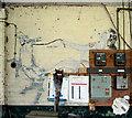 TM3185 : RAF Bungay (USAAF Station 125) - Aero Club mural (4) by Evelyn Simak