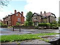 SJ9689 : Houses on Station Road, Marple by Christine Johnstone