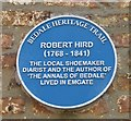 Photo of Robert Hird blue plaque