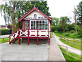 SJ3377 : Signal box at the old Hadlow Road station by Oliver Dixon