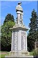 NS5337 : Newmilns War Memorial by Leslie Barrie