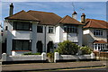 TQ8985 : Seaside semi-detached suburbia, Northumberland Crescent, Southchurch, Southend-on-Sea by Christopher Hilton