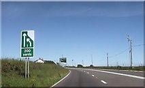 SW7132 : A394 approaching Butteris Gate by John Firth