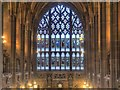 SJ8398 : John Rylands Library, The Secular Window by David Dixon