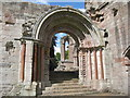 NT5931 : The east processional doorway at Dryburgh Abbey : Week 28