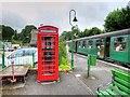 SU5832 : Alresford Railway Station Platform 1 by David Dixon