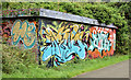 J3470 : Graffiti, Lagan towpath, Stranmillis, Belfast - July 2014(2) by Albert Bridge