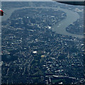 TQ3681 : Mile End and the Isle of Dogs from the air by Thomas Nugent