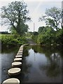 NU2111 : Stepping stones across the River Aln by Graham Robson