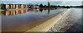 SX9291 : Spillway in flood by Noel Jenkins