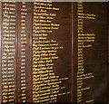 TF9532 : RAF Little Snoring - Awards and Honours board (detail) by Evelyn Simak
