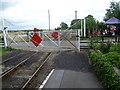 TQ7825 : The level crossing at Bodiam station by Marathon