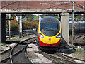 SJ5988 : Pendolino train approaching Warrington Bank Quay : Week 34