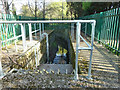 Dist:0.3km<br/>Where the Morden Brook enters a lengthy culverted section in the corner of Morden Park.