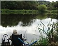 SE3408 : Fishing pond at Smithy Green by Neil Theasby