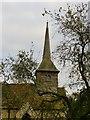 SP7605 : Ilmer church: shingled tower and spire by Stefan Czapski