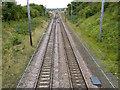 SK7277 : East Coast Main Line at Eaton Lane bridge by Alan Murray-Rust