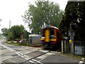 TG1904 : Train at Intwood Road Crossing by Adrian Cable