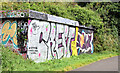 J3470 : Graffiti, Lagan towpath, Stranmillis, Belfast (September 2014) by Albert Bridge