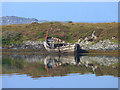 NM7720 : Rotting hulk on the shores of Eilean Buidhe : Week 36