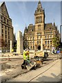 SJ8398 : Manchester Cenotaph and Town Hall - September 2014 by David Dixon