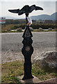 SH9478 : National Cycle Marker Post at Pensarn by Ian S