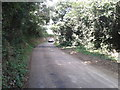 SX0264 : Car on a lane near Higher Woodley by Rob Purvis