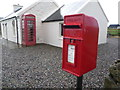 NM0243 : Baugh: postbox № PA77 103 and phone box by Chris Downer