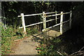 TL0752 : Footbridge on the footpath by Philip Jeffrey