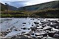 NN8690 : Stepping stones, River Feshie by Jim Barton