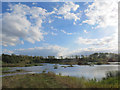 SP9314 : Clouds over The Marsh at College Lake by Chris Reynolds
