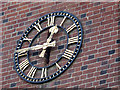 TQ3462 : St John's church, Selsdon: clock by Stephen Craven
