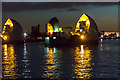 TQ4179 : The Thames Barrier at Sunset by Christine Matthews