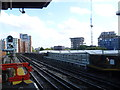 TQ1883 : View from the end of the platform at Alperton station by Marathon