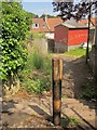 SX9064 : Post and steps, Chelston by Derek Harper