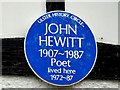 Photo of John Hewitt blue plaque