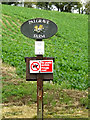 TM0862 : Palgrave Farm sign by Adrian Cable