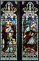 TL4058 : St Peter, Coton - Stained glass window by John Salmon