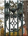 SJ9595 : Hyde Grammar School: Decorative ironwork by Gerald England