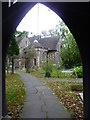 TQ1785 : View through the lych gate into St John's Churchyard, Wembley by Marathon