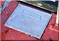 J3371 : Walcon pontoon plate, Belfast (November 2014) by Albert Bridge