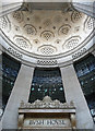Looking up the entrance niche towards the coffered semi-dome.