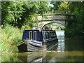 SJ8459 : Narrowboat  near Ackers Crossing, Cheshire by Roger  Kidd