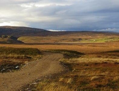 NH9632 : New road by Richard Webb