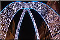 TQ2881 : View of arched Christmas decorations on South Molton Street #7 : Week 49