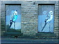 SE0026 : Budgies on boarded-up windows : Week 50