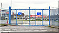 J3474 : Old harbour gates, Donegall Quay, Belfast (December 2014) by Albert Bridge
