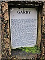 NH4858 : Garry - information plaque by Richard Dorrell