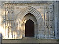 TF2804 : Thorney Abbey, west porch by Alan Murray-Rust